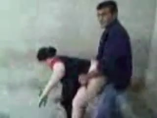 Pakistani couple having doggystyle sex in the corner