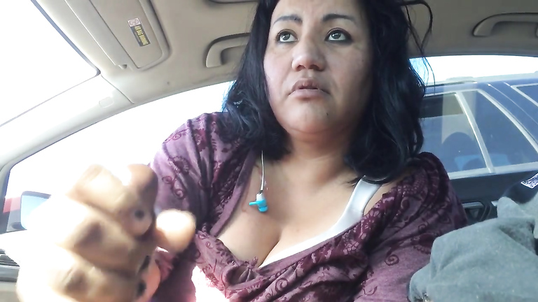 Ugly Latina prostitute gives a fascinating handjob