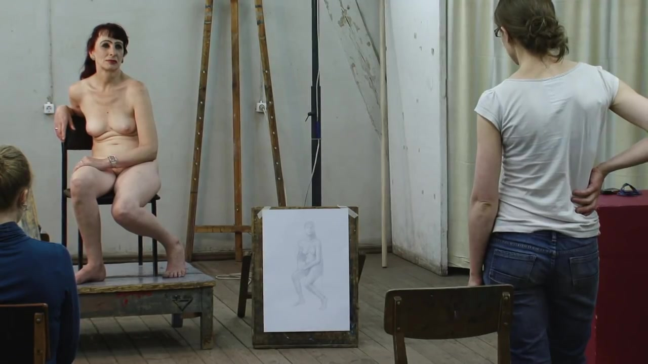 Artists doing a portrait of an old cougar