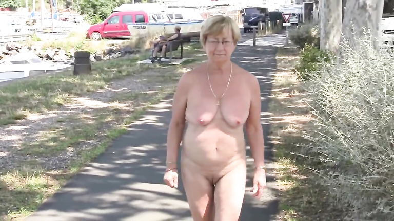 girl walking around naked slutload