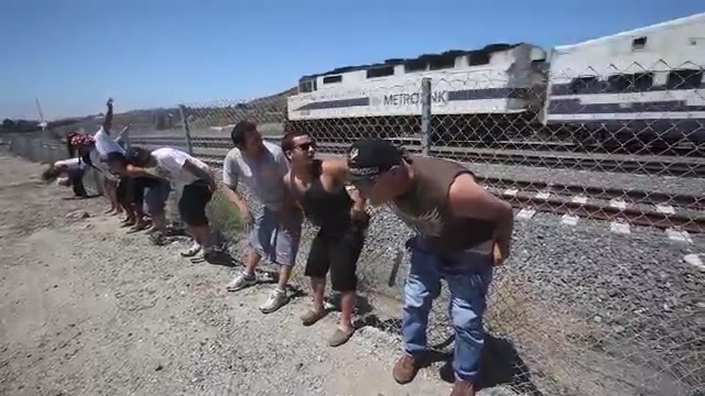 Annual showing of the butt to the train