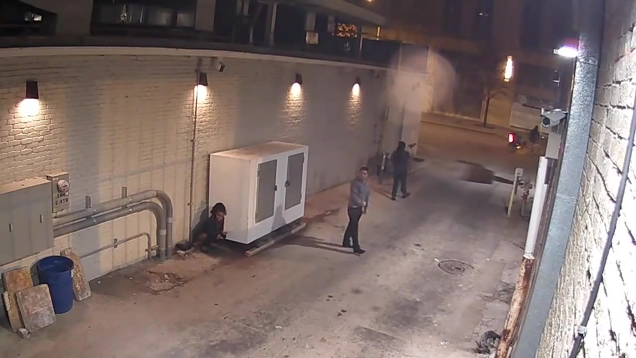 Desperate men and women caught pissing in the alley