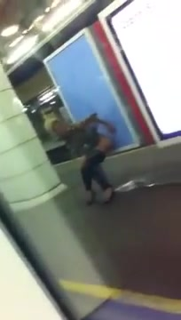 Drunkened hooker urinating in the metro