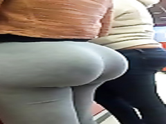 Brazilian whooty with huge ass walks around in tight sweatpants