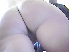 Hidden camera films every part of her chubby ass
