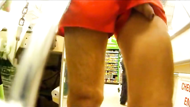 Exposing the meaty boner in the supermarket