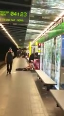 Horniest lovers ever having sex on the metro of Barcelona