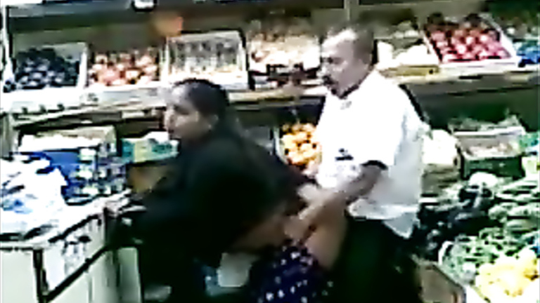 Banging the female customer in the Turkish store