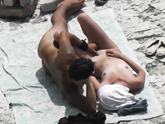 Soft and gentle girl has some fun with her boyfriend at the beach of Crimea