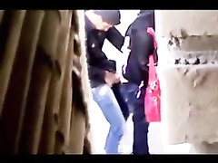 Arab hijab sex in the public place