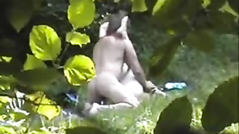 Russian nudists copulating in the middle of the woods