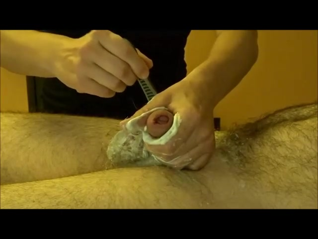 Ravishing beauty practices waxing and tugging on massive cocks