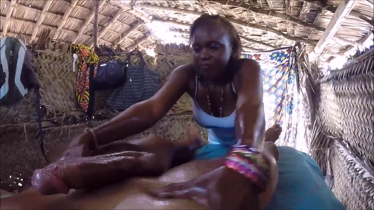 Huge cock oil massage