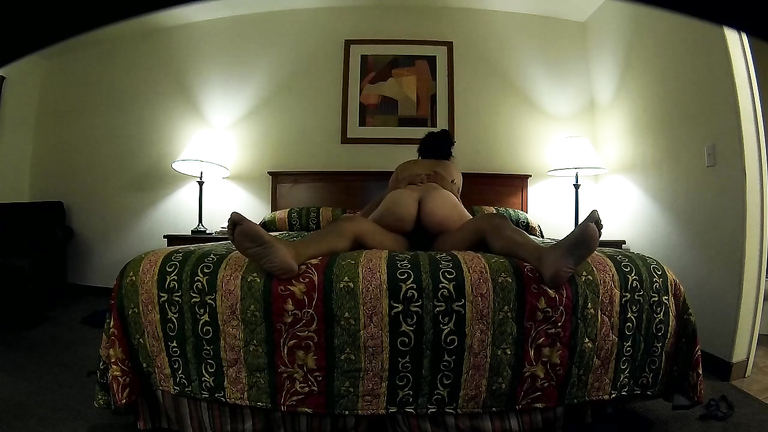 Curvaceous wife rides on a large cock