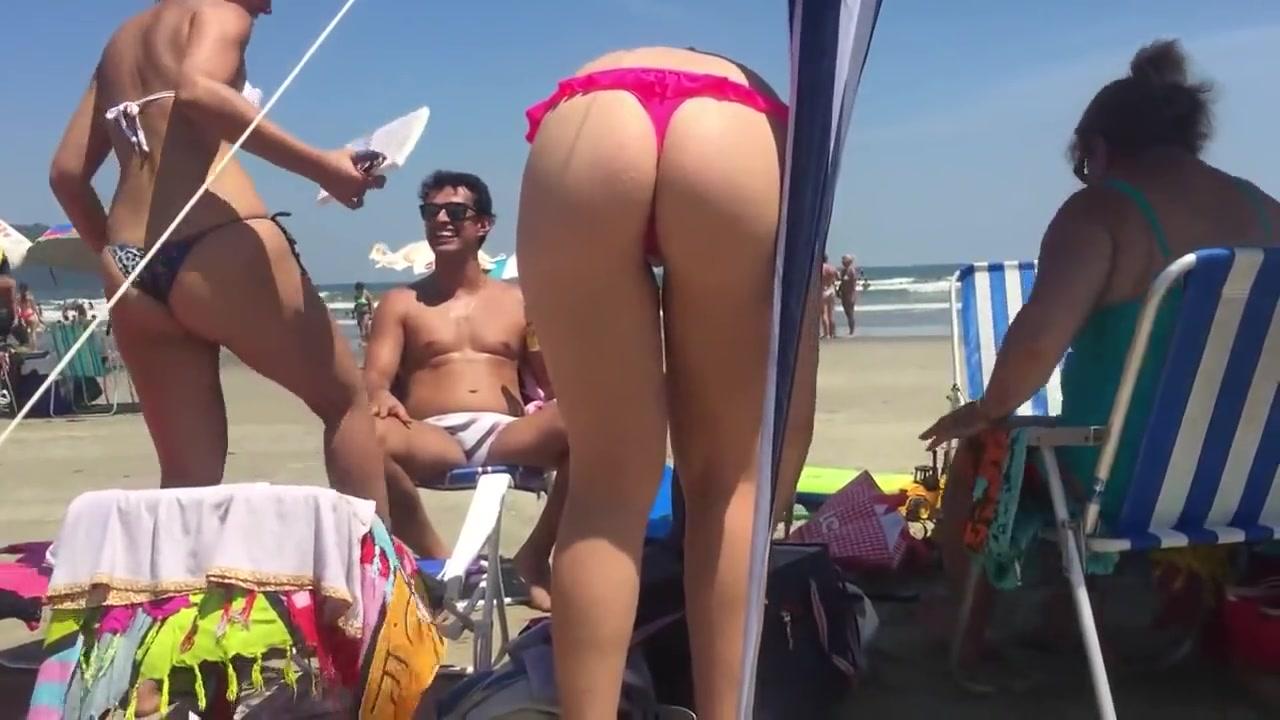 Amazing friend is wearing a really flimsy bikini bottom