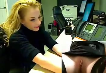Angelic office lady enjoys pleasuring her orgasmic pussy