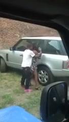 Frigid black prostitute gets groped in public