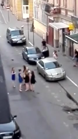 French prostitute likes being nailed by her clients in public