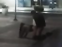 Drunk chickie gets pounded hard from behind in public