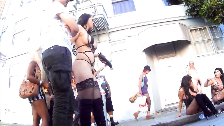 Amazing upskirts at Folsom Street Fair in San Francisco