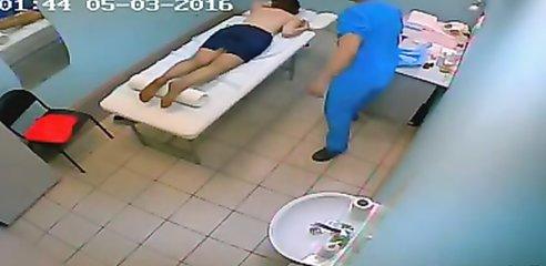 Real hidden camera at a massage parlor