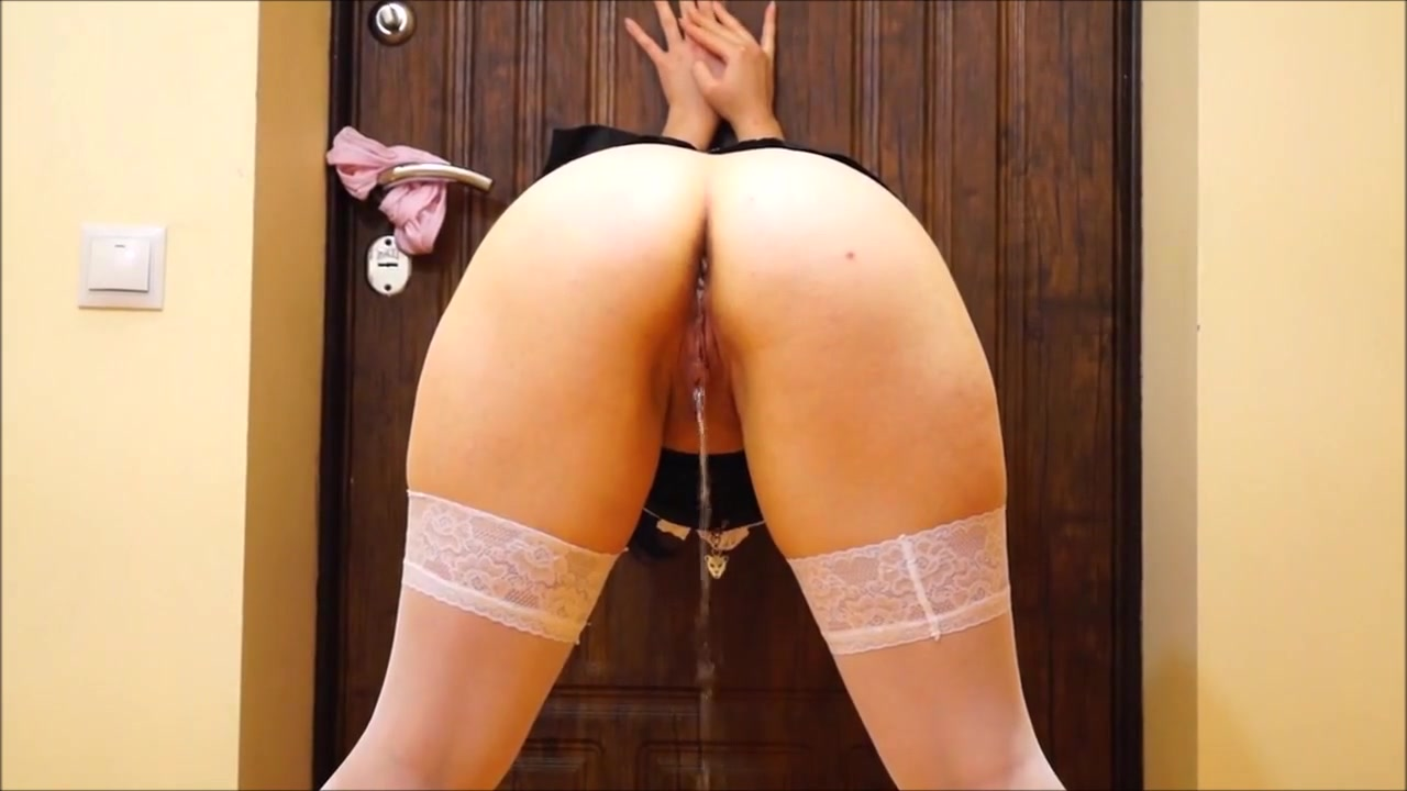 Chubby Russian maid exposes both of her tight holes