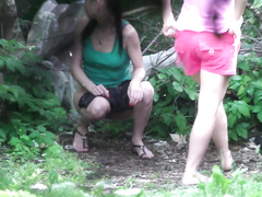 Ukrainian ladies get filmed peeing in the bushes
