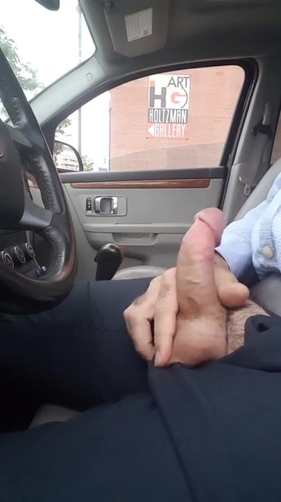Hooker notices me jerking off in my car and comes over to say hello