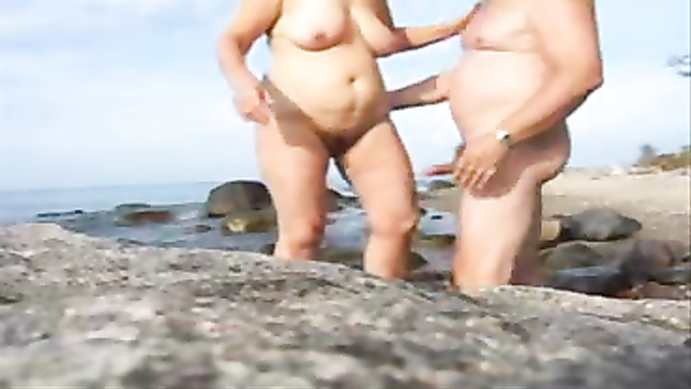 Nudist sperm beach