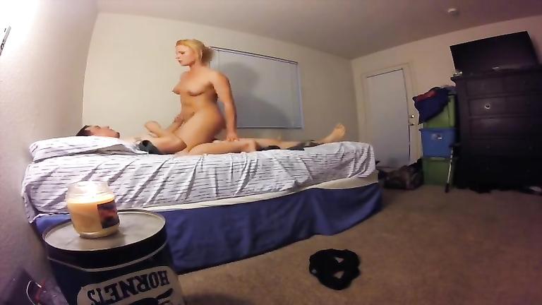 Naked girlfriend filmed when shagging like a slut
