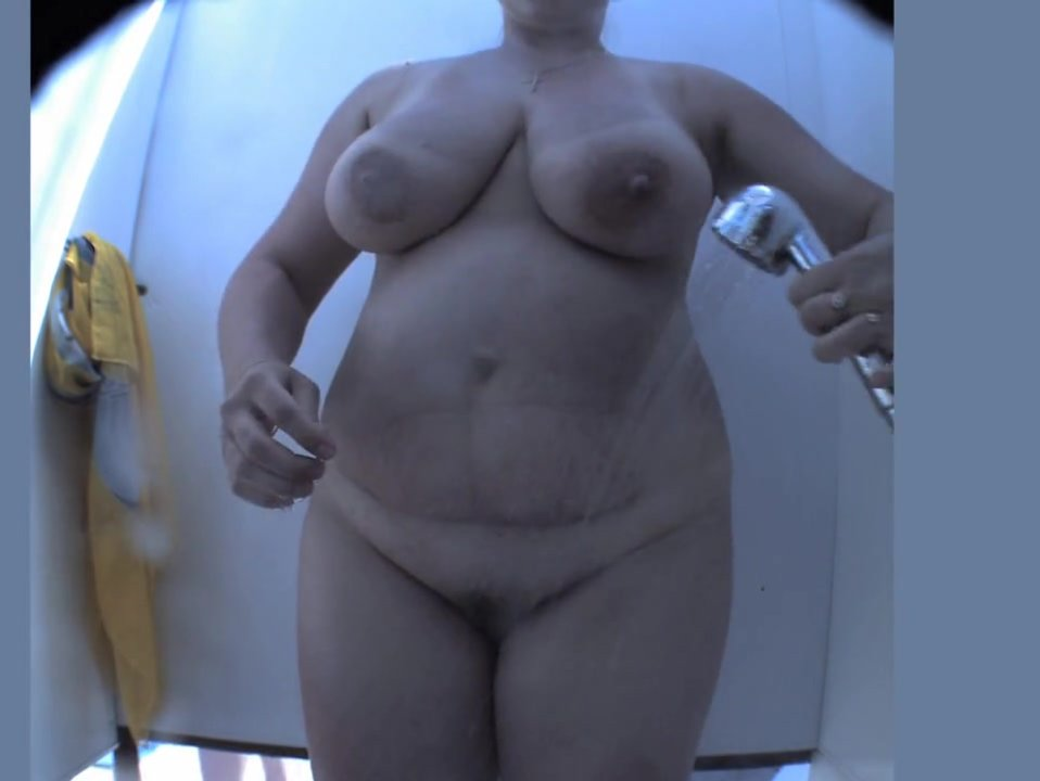 My bbw wife hidden shower cam