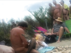Sex at the nude beach caught on tape by voyeur