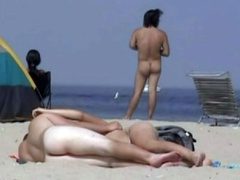 Sexy bodies in a nude beach compilation video