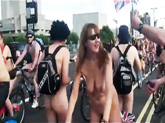 Nude bike ride down these European streets