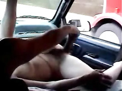 Woman exposes her hungry vagina for a trucker