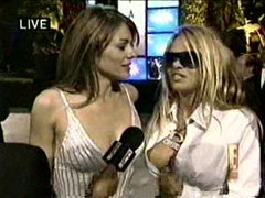 Pamela Anderson and Elizabeth Hurley cleavage video