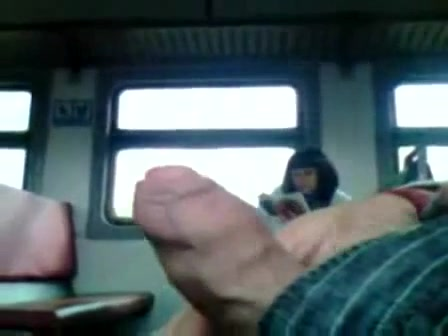 jerking off in the train