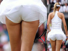 Sporty girls in tennis upskirt compilation