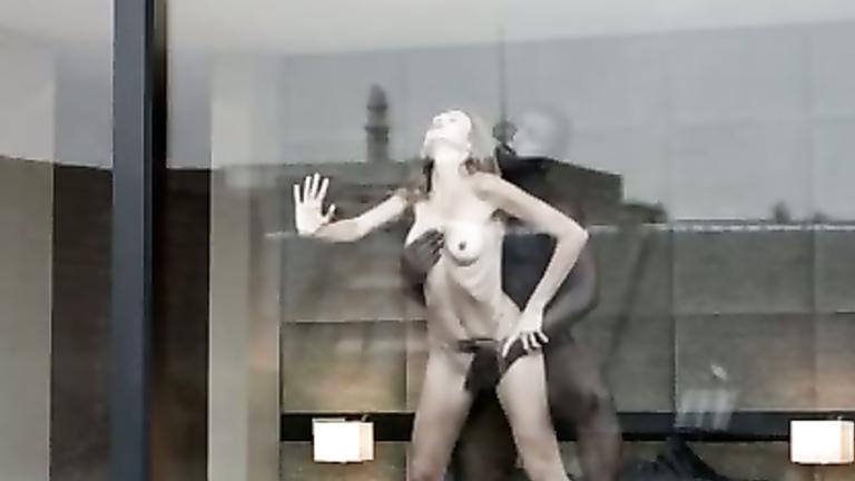 Window voyeur slim milf