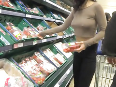 Asian amateur pokies at the grocery store