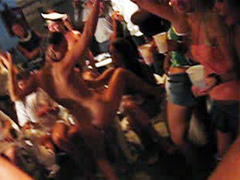 Latina party girl dances naked for an audience