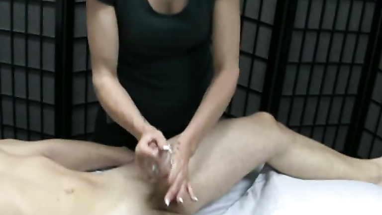 Massage jerk off on Red Now Tube