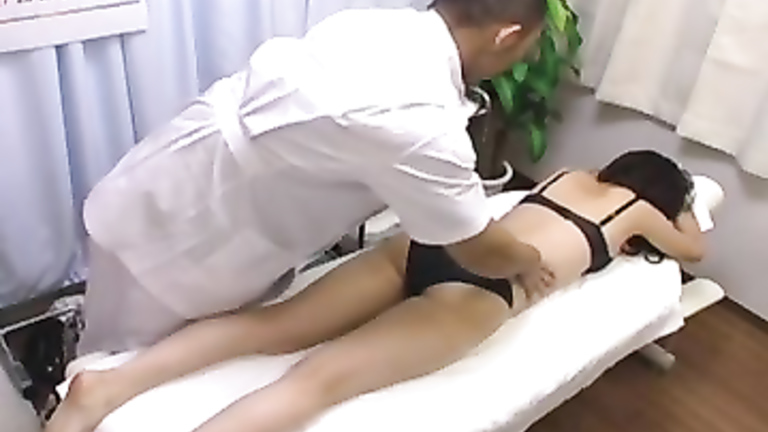 Cute Asian girl seduced by her masseur