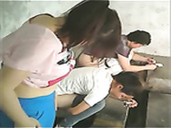 Yoni massage on hidden cam