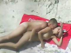 Nude beach day with a voyeur sex