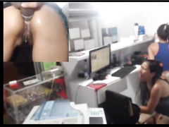 Anal dildo webcam show at work