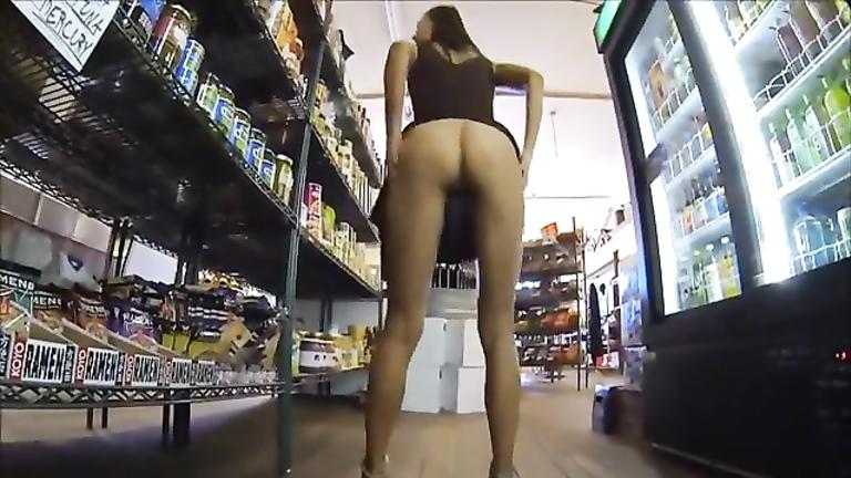 Exhibitionist girls masturbating in public