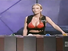 Great body bikini babe on a game show