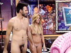 Naked couple on a Spanish talk show