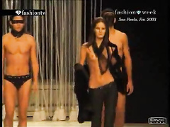 Supermodel tits compilation on the runway